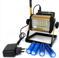 2017 Новый светодиодный прожектор 50 Вт Отражатель Светодиодный прожектор Водонепроницаемый Открытый Лампы Проекторы + 4x18650 Зарядное устройство