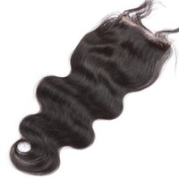 Body Wave Virgin Hair Medium Brown 4*4 Lace Closures Natural...