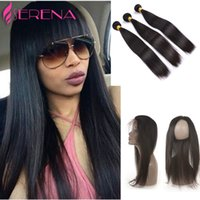 360 Lace Frontal With Bundle Pre Plucked Full Frontal Lace C...