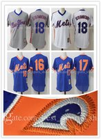 Men' s New York Mets Darryl Strawberry 18 stitched Jerse...
