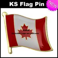 Distintivo 10pcs della bandiera del distintivo della bandiera del Canada trasporto libero KS-0083
