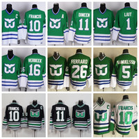 Mens Hartford Whalers Jerseys Hockey 10 Ron Francis 26 Ray Ferraro 5 Ulf Samuelsson 16 Pat Verbeek 11 Kevin Dineen 1 Mike Liut Jersey