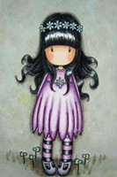 Cartoon Girl, Diamond Embroidery, Full, 5D, DIY, Diamond Painting...