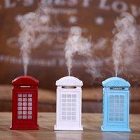 300 ML Telphone Booth Ultrasons Air Humidificateur Ménage Diffuseur D'huile Essentielle USB Air Humidificateur Mini Bureau Arôme Huile Diffuseur