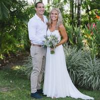 Cheap Country Wedding Dresses Designer 2K17 Spaghetti Straps A Line Chiffon Custom Made Vestidos de noiva Vestidos De Novia