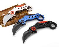 무료 배송 CS 이동 Karambit 접는 칼 캠핑 전술 강철 핸들 생존 사냥 전술 칼 야외 EDC 도구