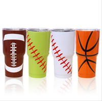 30oz Football Vacuum Insulation Mug Beer Cooler Stainless St...