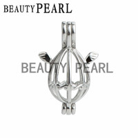 5 Pieces Wing Charm for Floating Lockets Pearl Cage 925 Ster...