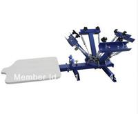 سريع وحرية الملاحة! 4 لون 1 محطة آلة الطباعة الحريرية t-shirt طابعة الصحافة معدات كاروسيل