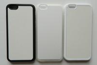 Пустой чехол для iphone 6 сублимации печати резиновые ТПУ + PC телефон случае + металлическая вставка, бесплатная доставка DHL / Fedex 100 шт. / лот Оптовая