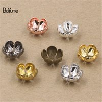 BoYuTe 100 Pcs 7 Colros 12*5MM Flower Bead Caps Wholesale Fi...