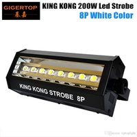 Freeshipping 200W weiße Farbe Mini King Kong LED Blitzlicht 8x20W High Power Auto / Sound / DMX512 / Belichtung / Blinking Zyklus / Strobe