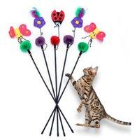 Товары Для Животных Поставки Кошка Игры Игрушки Болтаться Стержень Палочки Красочные Смешные Горячие Продажа