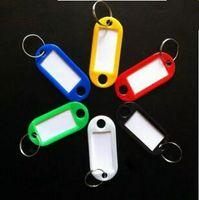 Pas cher en gros plastique ID clé Étiquettes Tag Cartes Nom anneau porte-clés avec les cartes Nom