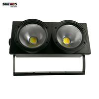 Shehds 2eyes 200W COB LED Blinder Light DMX Stage Efeito de iluminação legal e quente cor branca para show de TV Party assentos de espectador