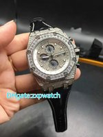 high quality Full iced out quartz chronograph full works wat...