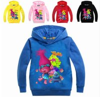 New Autumn Trolls Clothes For Girls T- shirt Long Sleeve T Sh...