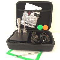 Портативный E кварц ногтей комплект электрический dab ногтей E D электронный dabbing контроль температуры PID коробка с Ti Tiatanium 10 16 20 мм