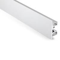 10 X 1M 세트 / 로트 T 형 Al6063 벽 램프 LED 스트립과 양극 처리 된 알루미늄 채널 알루미늄 프로파일 주도