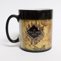 Coffee Mark Cup Harry Potter The Marauders Map Heat Sensitiv...