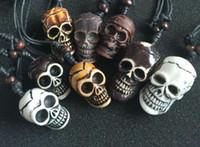 freies Verschiffen 12 PC yqtdmy Imitat-Schmuck-gotische gemischte Art Schädel-Kopf-Biker-Halskette