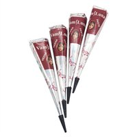 4X Henna Body Paints Tattoos Cones Body Art Temporary Tattoo...