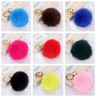High quality Bursts of metal deduction genuine rabbit hair b...