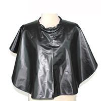 Neueste Wasserdichte Anti-Chemische Haar Shampoo Schal Professionelle Haarfärbung Perming Wrap Kleid Salon Stylist Styling Cape In Schwarz Farbe
