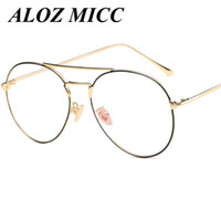 ALOZ MICC Brand High Quality Pilot Metal Frame Glasses Desig...