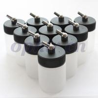 OPHIR 10 PC / lotto trasparente Airbrush Plastica 22cc Bottiglia Professionale PAINT TAPPA PER ARFRIZZO ACIONTO SINGOLATO # AC019-10X