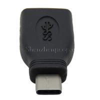 새로운 USB 3.1 C 남성 USB 3.0 A 여성 otg 어댑터 변환기 USB 타입 C 블랙 무료 배송
