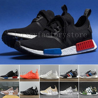 New NMD Runner R1 Mesh Tri- Color Grey Pink White Blue Women ...