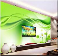 3D фото обои пользовательские настенные фрески обои фреска красоты Зеленая лошадь подкова цветок лотоса фон обои украшения дома