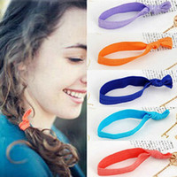 120Pcs 24 colors Knotted Ribbon Hair Tie Ponytail Holders St...