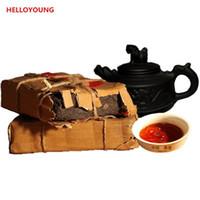 Sıcak satış 250g Olgun Puer Çay Yunnan Üst dereceli Klasik Pu er Çay Organik Doğal Pu'er En Eski Ağacı Puer Tuğla Siyah Puerh Çay Pişmiş