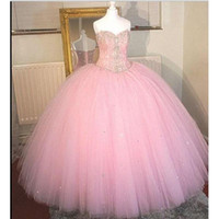 2017 Sexy Pink Sweetheart Ball Gown Quinceanera Dresses With...