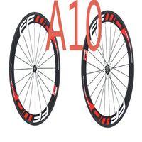 2017 스타일 FFWD F6R 빨간색 흰색 60mm Clincher / 관형 탄소 바퀴 700C 도로 자전거 전체 탄소 자전거 바퀴 세트 경량 무료 배송