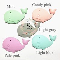 2017 Lot of 10 new silicone whale teether, silicone teething...