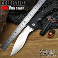 Cold Steel Camping Folding Knives Very Sharp G10 handle Camp...