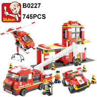 Sluban Building Blocks 745Pcs B0227 Fire Center Model set Br...