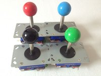 4 pcs ZIPPYY Joystick Long shaft blue yellow ball top 4ways ...