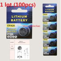 100 stücke 1 los CR1620 3 V lithium li ion knopfzelle CR 1620 3 Volt li-ion münze batterien Kostenloser Versand