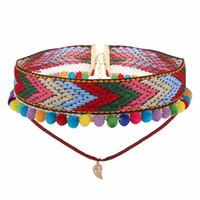 Collane di moda per le donne Boho Boho Fur Ball Flower Choker Necklace per le donne Fashion Gothic Tattoo Collare di gioielli