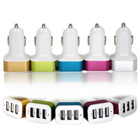 3 Port USB Car Charger Mini Charging Adapter Universal 5V 4....