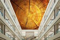 Anelli di albero di lusso del soffitto sfondo personalizzato wallpaper per pareti soffitti 3d anelli degli alberi affreschi sul soffitto di tessuto non tessuto carta da parati europea