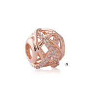 Rose Gold Plated charm Dazzling Daisy Beads Fit pandora Wome...