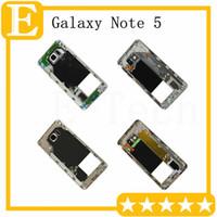 Samsung Galaxy Note 5 N920V N920F VS N920T N920P N920A Orta Çerçeve Metal Geri konut şasi Kamera Lens DHL için 50pcs Orta Çerçeve