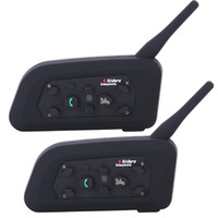 Vatone V6 Walkie Talkie Motorrad Bluetooth3.0 Helm Intercom Headset 1200m Moto Wireless BT Interphone für 6 Fahrer