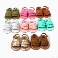 Детские сандалии с кисточкой обувь Детская обувь Детские сандалии Младенческие туфли Мальчики Девочки Летние Сандалии Дети Обувь для Обувь Малыша Принцесса Сандалии F364