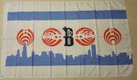 Изготовленный на заказ флаг Чикаго Басснектар 3фт флагами и знаменами полиэстера 5ФТ 100Д